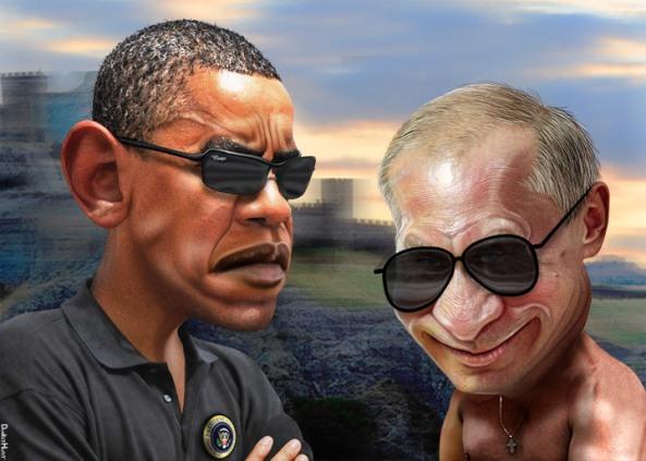 obama putin cartoon figures